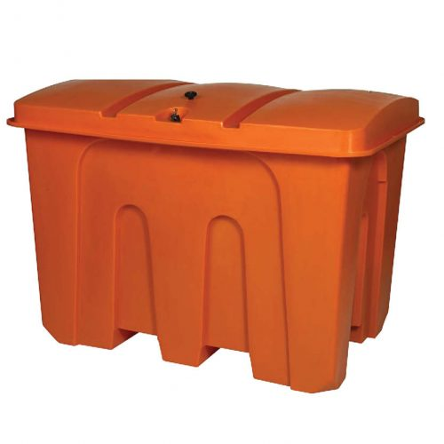 Spillbox XL orange med låsbart lock