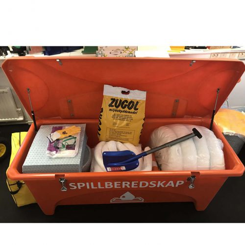 Spillberedskap spillbox 475 liter orange hamnpaket