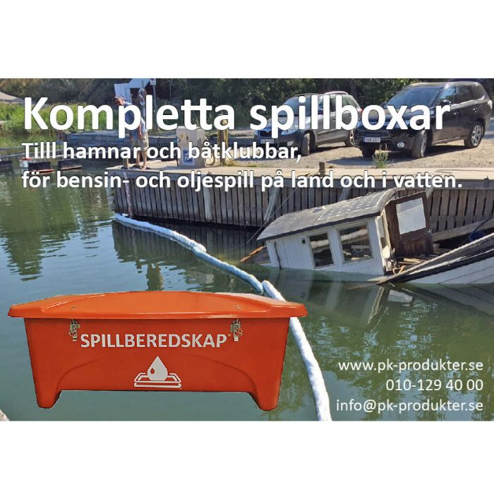 Spillberedskap spillbox orange annons