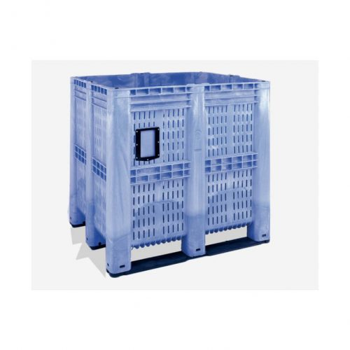 Pallbox av plast 1400 liter perforerad 1300 x 1150 x 1250 mm